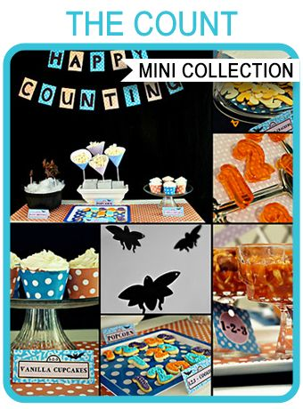 Free Printable Sesame Street Party Templates - the Count