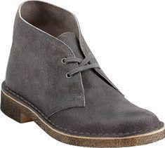 Clarks Desert Boot - Grey Distressed - Free Shipping & Return Shipping - Shoebuy.com