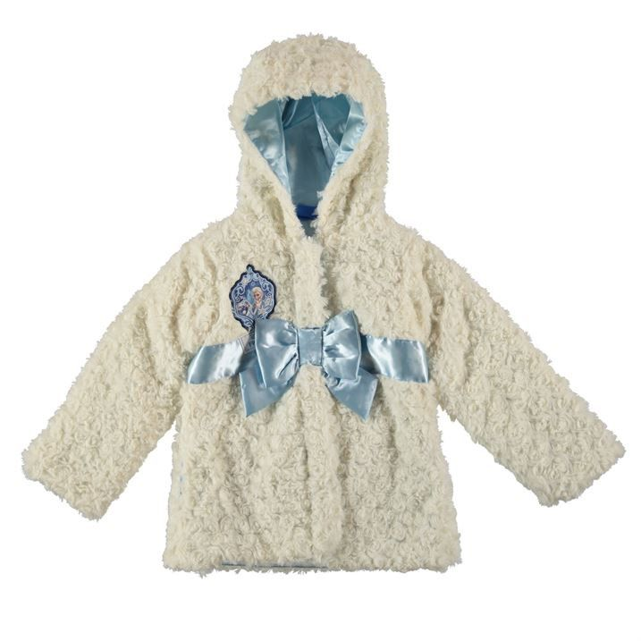 Girls Licensed Disney Frozen Elsa Faux Fur Coat