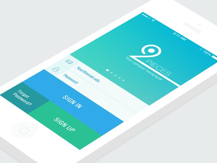 Login Screen Student App by Yasser Achachi
