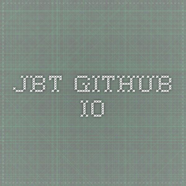 jbt.github.io