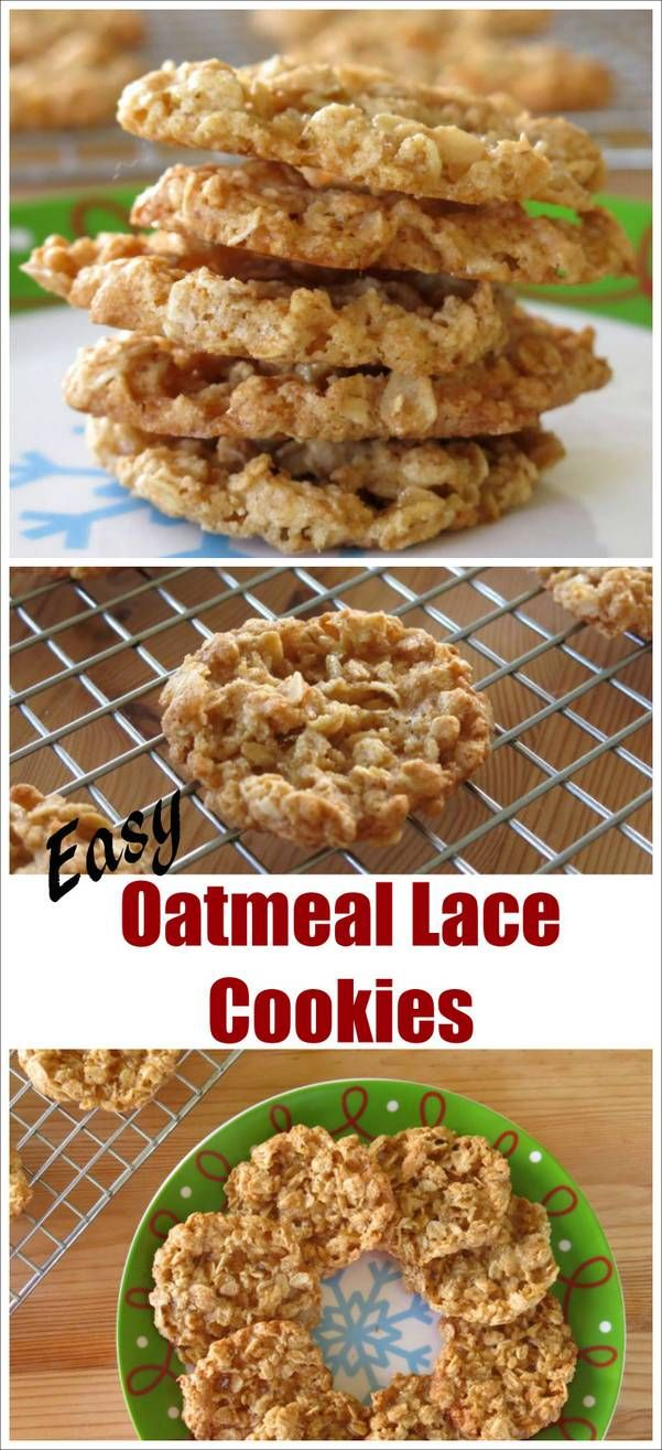 ... on Pinterest | Oatmeal lace cookies, Cookie recipes and Lace cookies