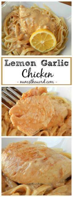 Creamy Lemon Garlic Creamy Lemon Garlic Chicken & Pasta is a...  Creamy Lemon Garlic Creamy Lemon Garlic Chicken & Pasta is a lemon lovers dream meal. Moist tender chicken in a creamy lemon sauce served over pasta. Recipe : http://ift.tt/1hGiZgA And @ItsNutella  http://ift.tt/2v8iUYW
