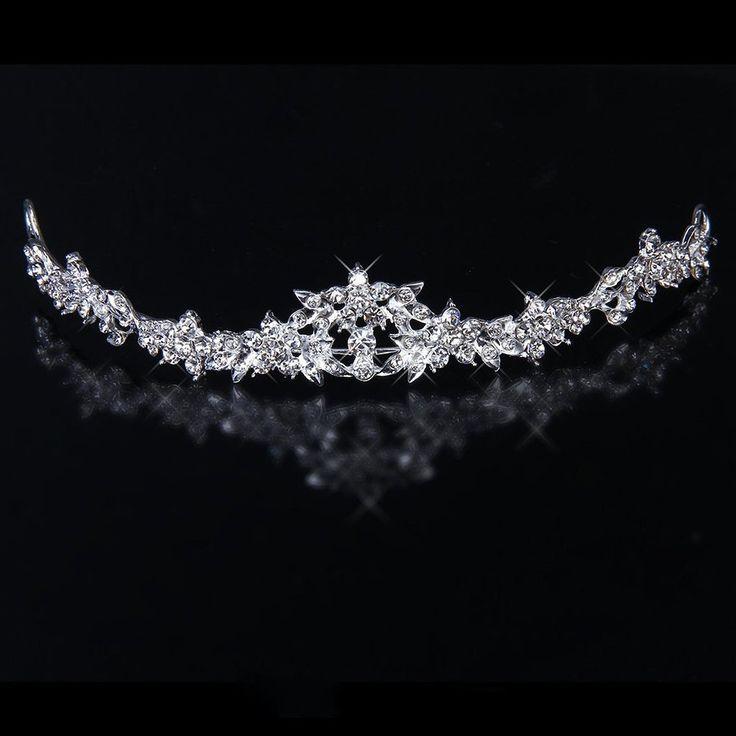 Amazon.de: PIXNOR Hochzeit Prom Sparkly Bridal Crown Strass Crystal Dekor Stirnband Schleier Diadem (Splitter)