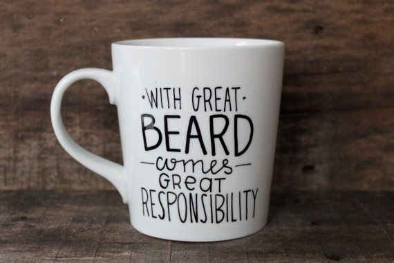 Funny Coffee Mug With Great Beard Comes by MorningSunshineShop