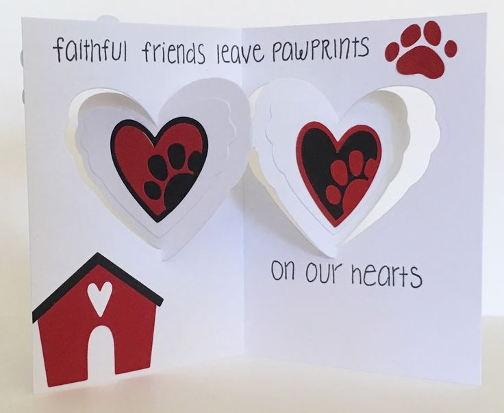Karen Aicken using the Pop it Ups Heart Pivot Card by Karen Burniston for Elizabeth Craft Designs. - Altered Scrapbooking: Dog Themed Sympathy Card