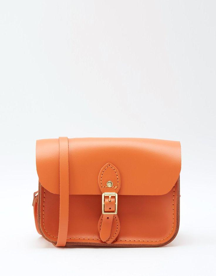 Immagine 1 di The Cambridge Satchel Company - Borsetta da viaggio arancione in pelle