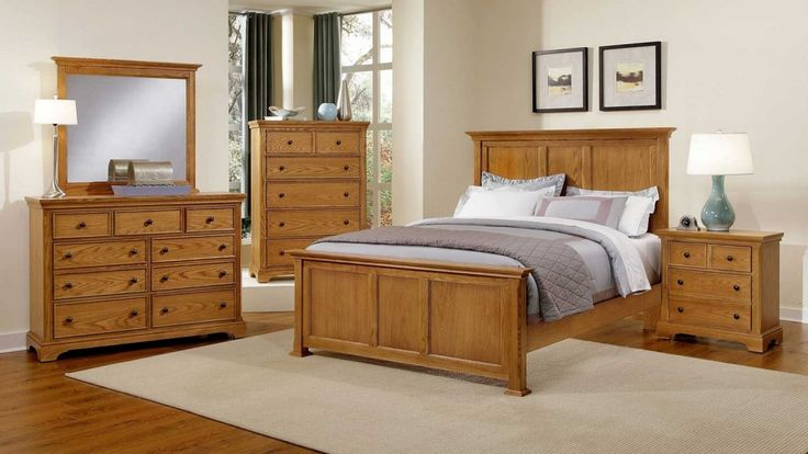 solid oak bedroom furniture sets - simple interior design for bedroom