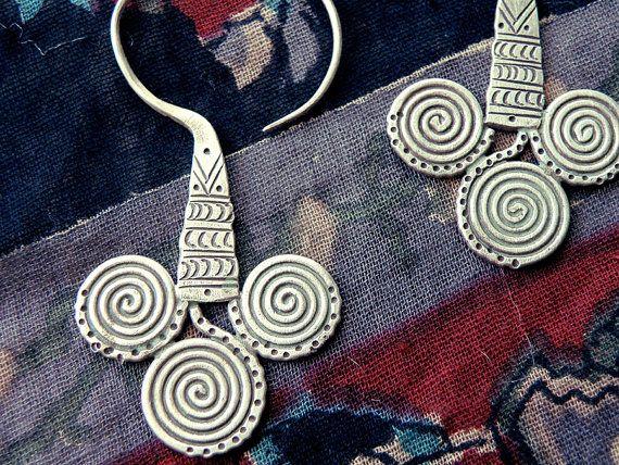 spiral earrings Greek earrings Greek jewelry  by CarmelaRosa