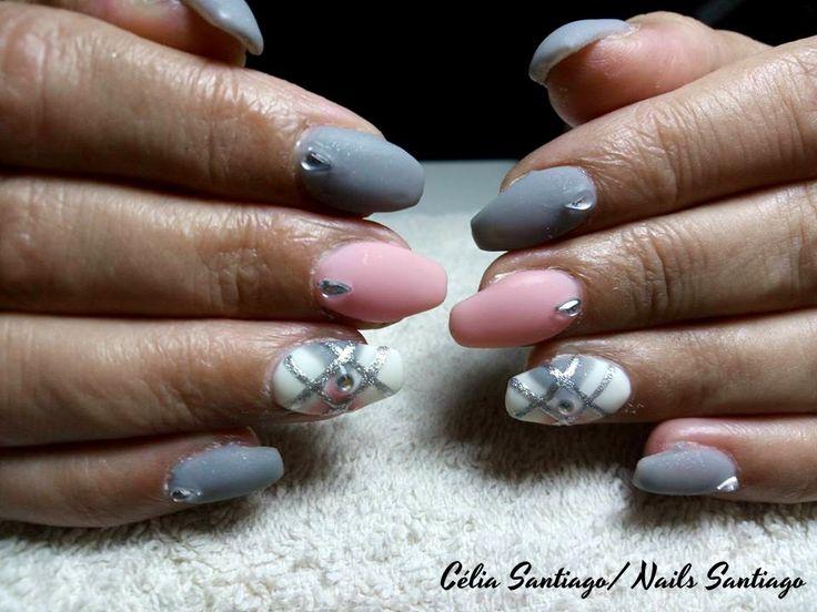 Diário Feminino: Unhas de Gel   Trabalho de Nails Santiago #4