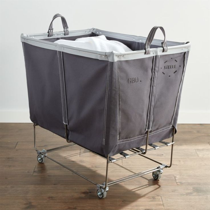 Steele Large Elevated Laundry Basket Briquette Crate and