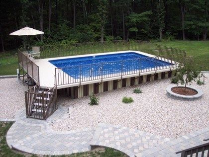 Pool Decorating Ideas best 20+ on ground pools ideas on pinterest | deck with above