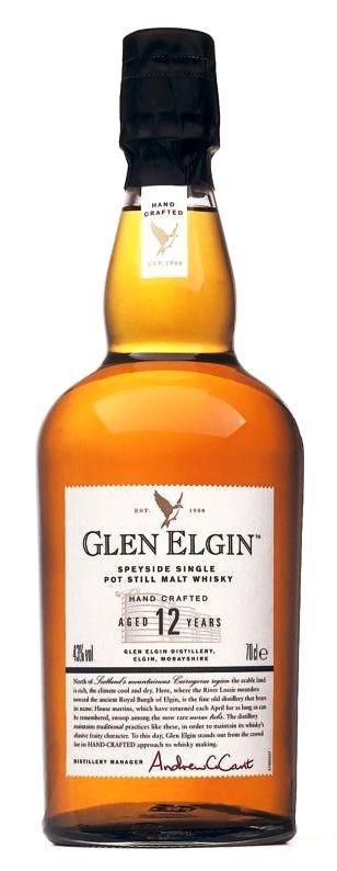 Glen Elgin speyside single pot still malt whiskey 12 ans