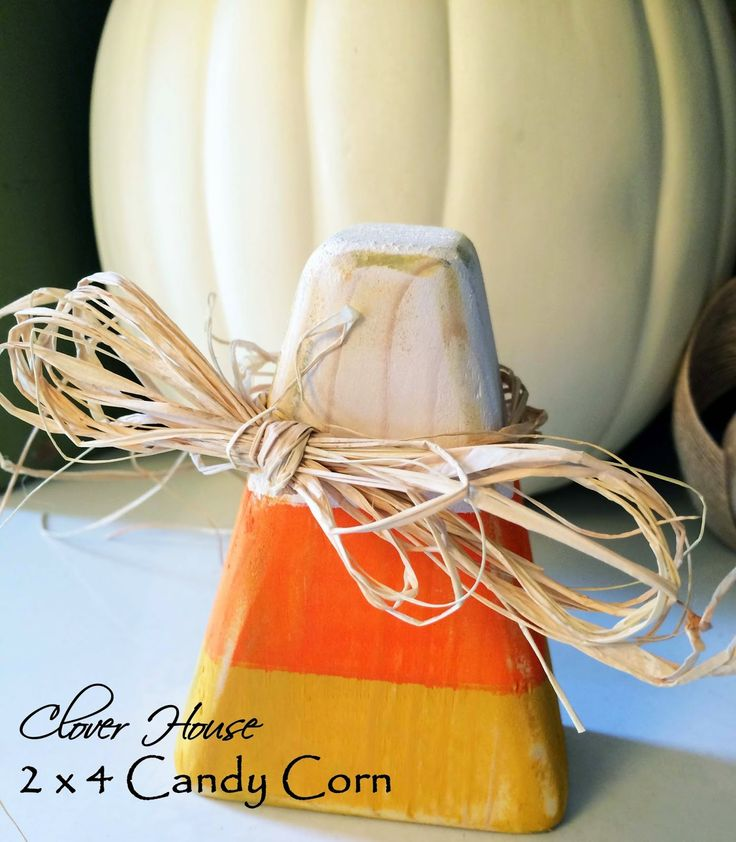 clover house 2 x 4 candy corn a tutorial winter decorationshalloween - Candy Corn Halloween Decorations