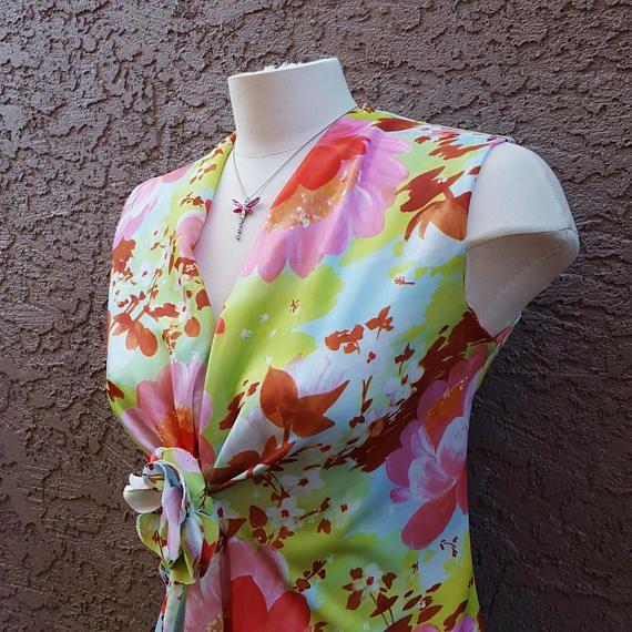 Vintage Windsor 1960 Floral Maxi Dress