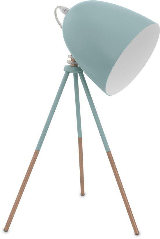 bol.com | EGLO Vintage - Tafellamp - 1 Lichts - Mint | Wonen