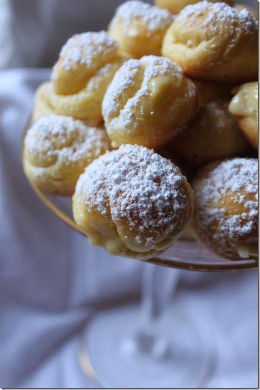 Julia Child Cream Puff recipe filled with coconut cream filling. So delectable!