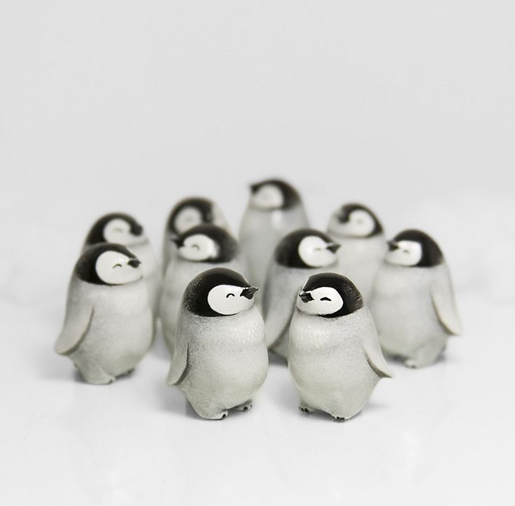 Baby Penguins by RamalamaCreatures.deviantart.com on @DeviantArt