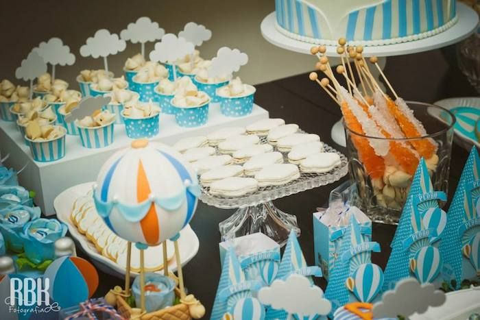 Amazing hot air balloon party party ideas pinterest for Balloon decoration for christening party