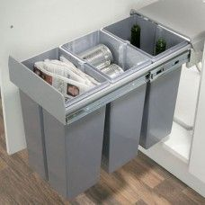 Soft-Close Pull-Out Waste Bin Unit for 300mm Cabinet Width, 30 Litre Capacity