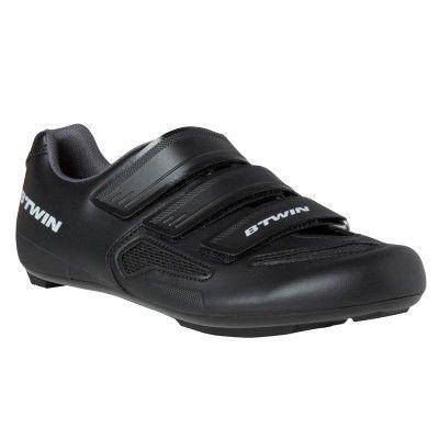 CHAUSSURES VELO 500 NOIR - Le + produit: Rigides, résistantes,  légères et confortables. – Conçu pour une pratique régulière du vélo route (2 heures par sortie). – Rigides, résistantes,  légères et confortables.  - https://www.avisbox.net/produit/chaussures-velo-500-noir-7/