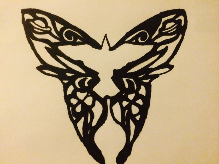 """Just like a crow chasing a butterfly."" The crow and the butterfly By. Shinedown Drawing is by me though! <3"