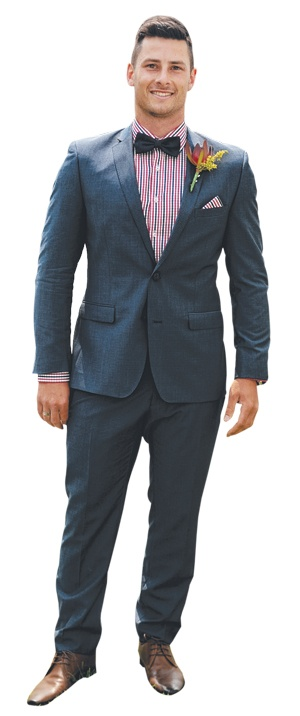 Craig Wood took out the Men's Classic Racewear category of Fashions on the Field at the Geelong Cup in 2012 in his Briggins Suit.
