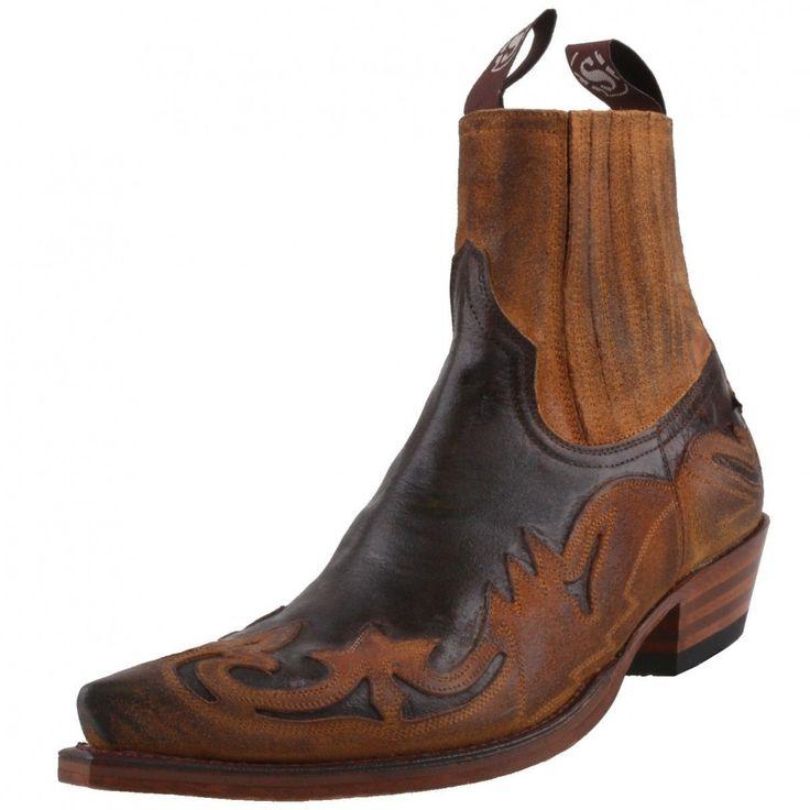 Neu SENDRA BOOTS Herrenschuhe 4660 Western-Stiefelette Stiefel Schuhe Braun | eBay