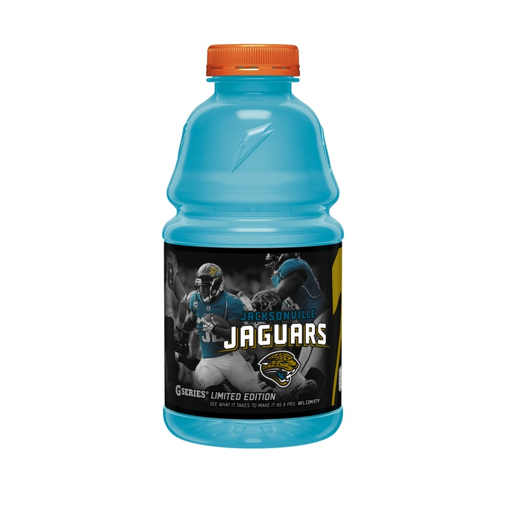 To celebrate Jaguars fans, Gatorade has released a limited edition Jaguars bottle. Jaguars staff has been enjoying it all week.  Check it out before the promotion is over!