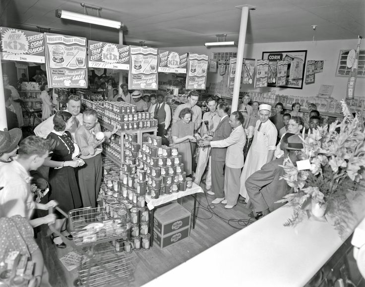 MRS Super Market, in-store radio advertising event,1941
