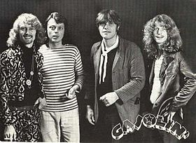 Gasolin' i 1974: Franz Beckerlee, Wili Jønsson, Kim Larsen og Søren ...
