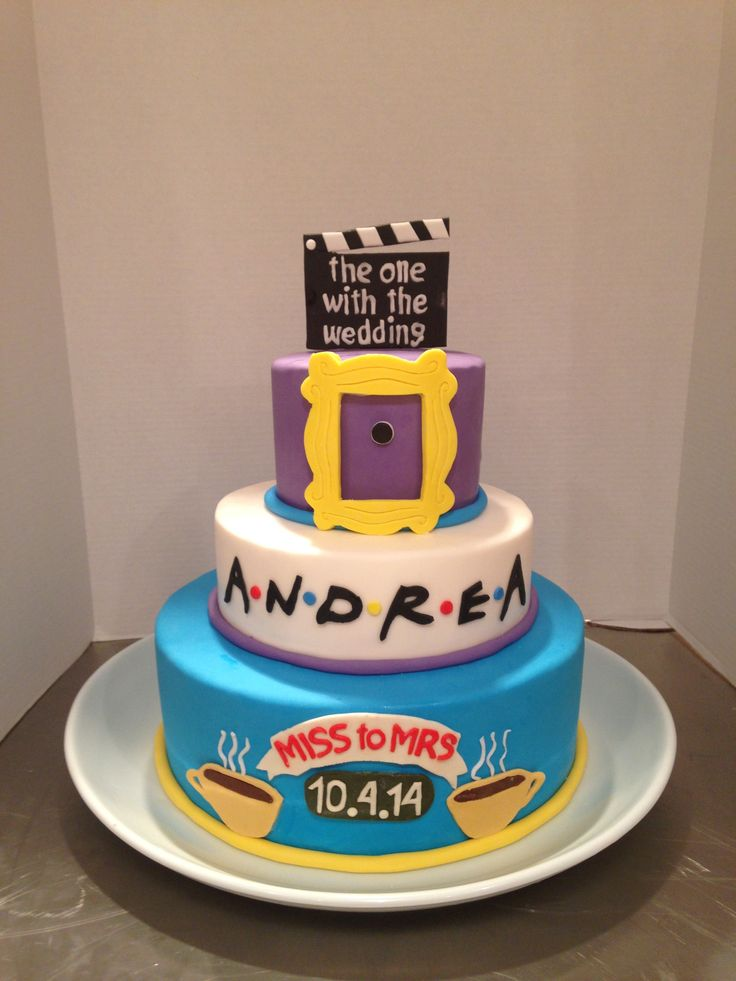 Friends TV Show Themed Bridal Shower Cake