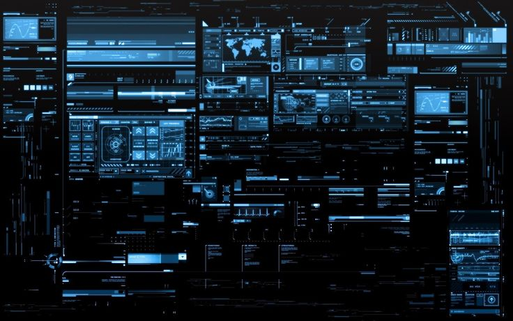 Command And Conquer Computers Console Digital Art Futuristic Hackers Interface…