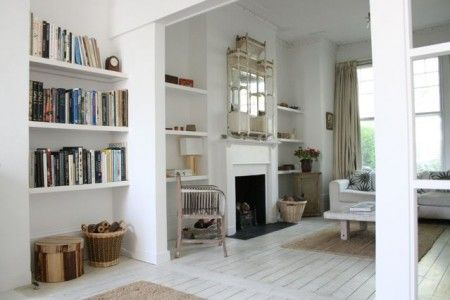 alternative alcove shelving - maybe bottom two only and hanging space?