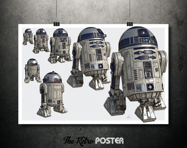 Star Wars Poster - R2D2- Star Wars Gift, Star Wars Print, Star Wars Art, Star Wars Canvas, Fantasy Art, Sci Fi, Space Art, Robot Print by TheRetroPoster on Etsy