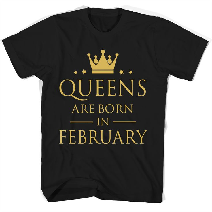 """#Queens Are Born In February T Shirts<br/>                 <div class=""""innercontent"""">Queens Are Born In February T Shirts 100% Cotton. Imported. Machine wash cold with like colors, dry low heat. Lightweight, Classic fit, Double-needle sleeve and bottom hem, Unisex sizing; consult size chart for details, Roomy Unisex Fit. Double needle stitching; Pouch pocket, Air jet yarn creates a smooth, low-pill surface. Ladies' fit with shorter body length and tapered sleeves Decoration type: Digital…"""