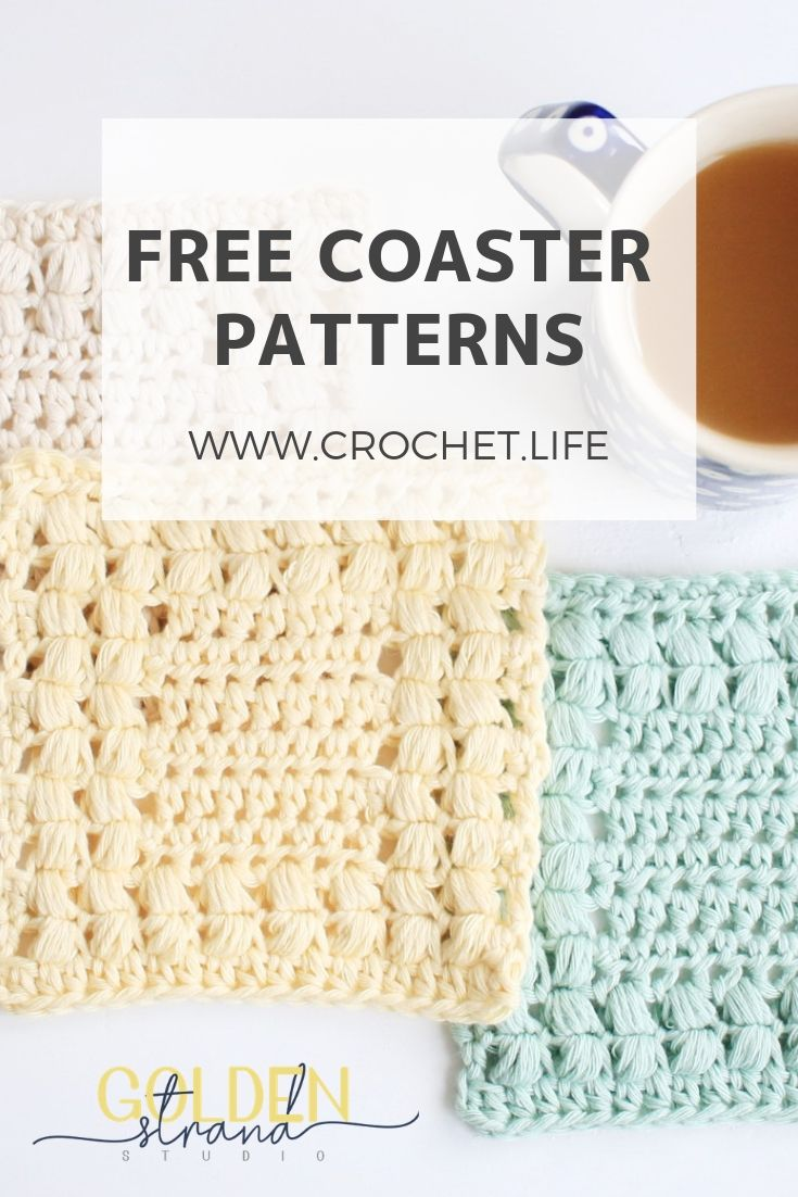 Easy Coaster Pattern - Free Crochet Pattern by GoldenStrandStudio ...