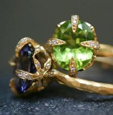 Gemstone Rings Unique Setting