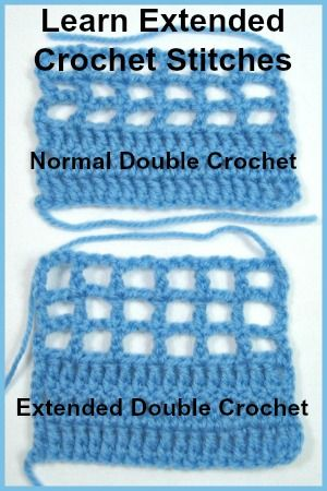 Free crochet lesson teaching Extended Crochet Stitches. With Extended Crochet you can solve leaning stitches or, in filet crochet, squishy blocks. You don't need to add rows to add a little length, or change filet crochet patterns to get a square.