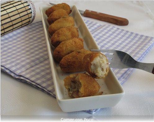 Croquetas de jamón con masa hecha en la panificadora | Comer con poco