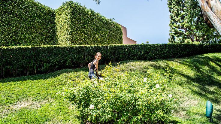 Enjoying Sun and Lush Green Landscape #sun #lush #green #girl #smile #houses #design #homes #landscape #design #garden #style #hollywood #mansions #luxury #houses #travel #la #california #visit #los-angeles #usa #city #friendlylocalguides