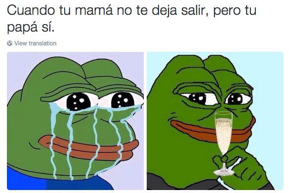 Cuando la rana Pepe capturó la emoción que sientes cuando te sales con la tuya. | 20 Veces en las que la rana Pepe describió nuestras vidas perfectamente