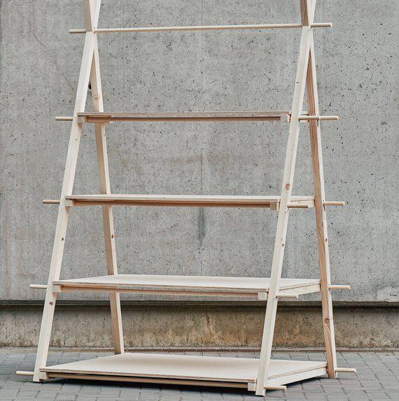 portable shelving unit vs 01 with 4 plywood shelves counter rack rh pinterest com portable wood shelving units portable display shelving units