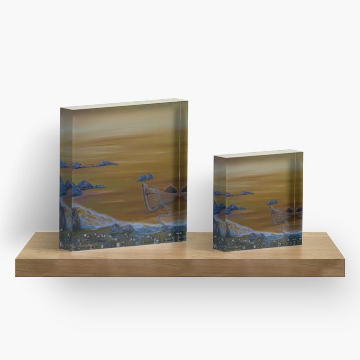 acrylic block, home ,office,accessories,decor,items,cool,beautiful,fancy,unique,trendy,artistic,awesome,fahionable,unusual,gifts,presents,for sale,design,ideas,boat,orange,golden,sunset,earthly colors,redbubble