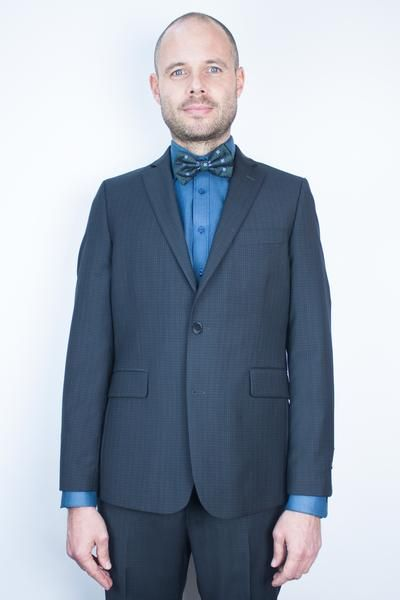 Charcoal Checky Suit