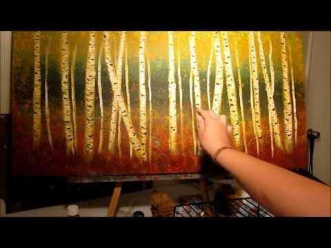 How to Paint Birch Trees - step by step