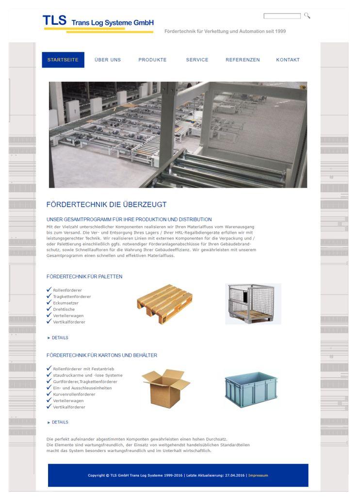 Homepage Fördertechnik  www.tls-web.de
