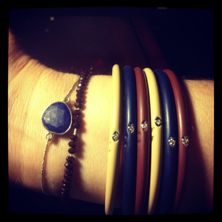 DuePunti diamond silicone bracelets