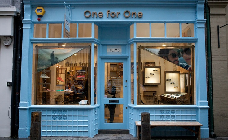 TOMS store in Covent Garden, London. I need to go!