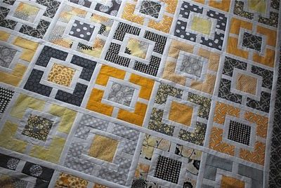 cool quilt: Hyacinth Quilts, Gardens Fence, Quilts Patterns, Colors Combos, Grey Quilt, Quilts Blocks, Blocks Patterns, Quilts Design, Quilts Tutorials